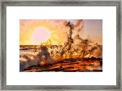 Wave Crasher La Jolla By Diana Sainz Framed Print