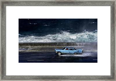 Wave  Driver Framed Print by Alper