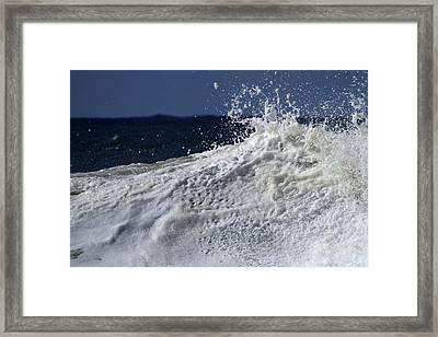 Wave Explosion Framed Print by Noel Elliot