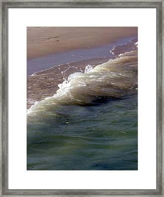 Wave Flowing Framed Print by Jack Adams
