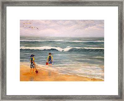 Wave Gazing Framed Print