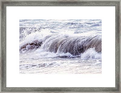 Wave In Stormy Ocean Framed Print by Elena Elisseeva