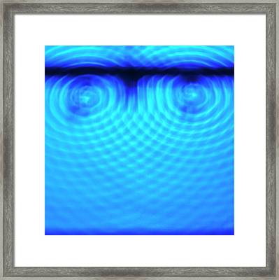 Wave Interference Framed Print by Science Photo Library