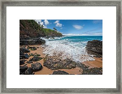 Wave Framed Print by Jen Morrison