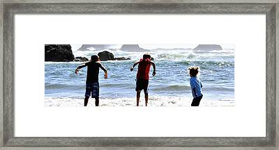 Wave Jumpers 25615 Framed Print by Jerry Sodorff