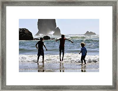 Wave Jumping 25614 Framed Print by Jerry Sodorff