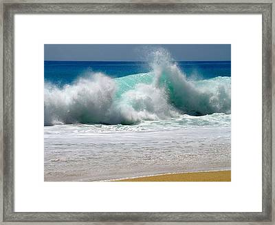 Wave Framed Print by Karon Melillo DeVega