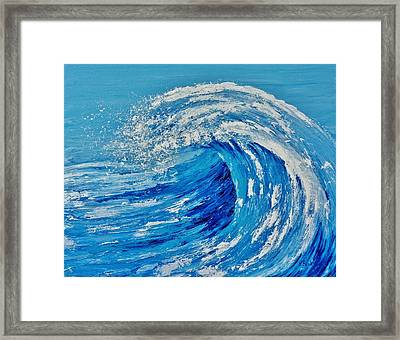 Framed Print featuring the painting Wave by Katherine Young-Beck