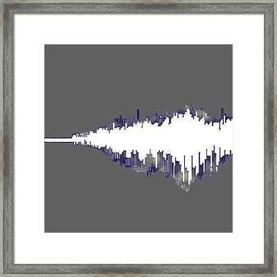 Framed Print featuring the digital art Wave by Ken Walker