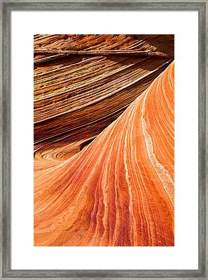 Wave Lines Framed Print by Chad Dutson