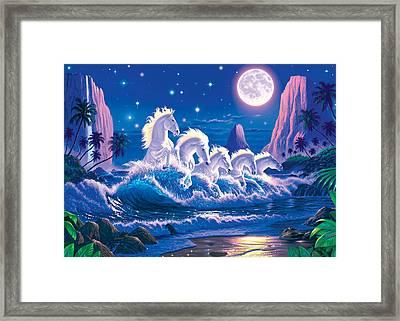 Wave Of Horses Framed Print by Chris Heitt