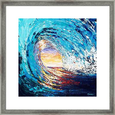 Wave Of Light Framed Print by Suzanne King