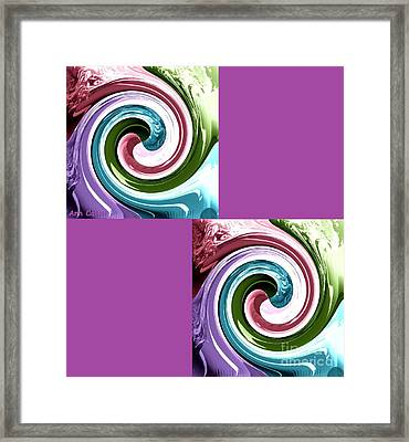 Wave Of Purple Framed Print