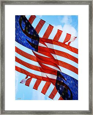 Wave Of Thanks To All Who Serve Framed Print by Rene Crystal