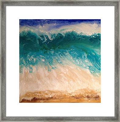 Wave Framed Print by Patty Vicknair