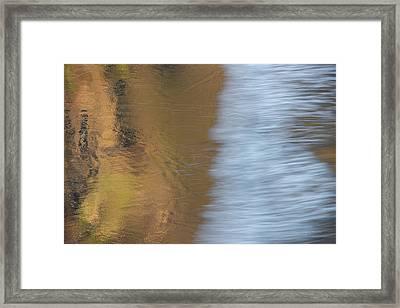 Wave Reflections 1 Framed Print by Leland D Howard