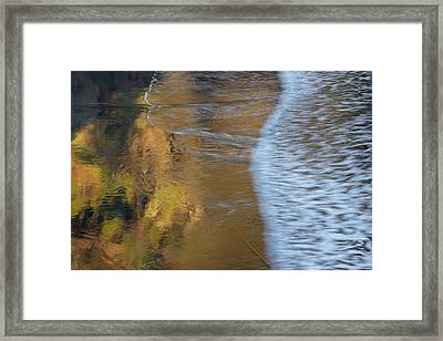 Wave Reflections 2 Framed Print by Leland D Howard
