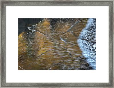 Wave Reflections 3 Framed Print by Leland D Howard