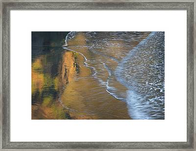 Wave Reflections 4 Framed Print by Leland D Howard