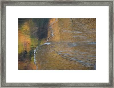 Wave Reflections 5 Framed Print by Leland D Howard