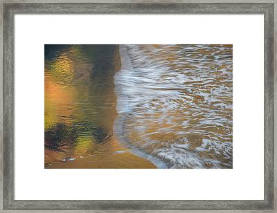 Wave Reflections 6 Framed Print by Leland D Howard