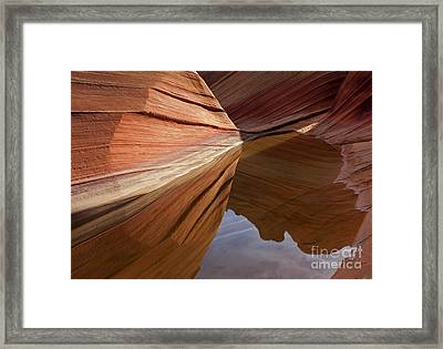 Wave Reflections Framed Print by Mike  Dawson