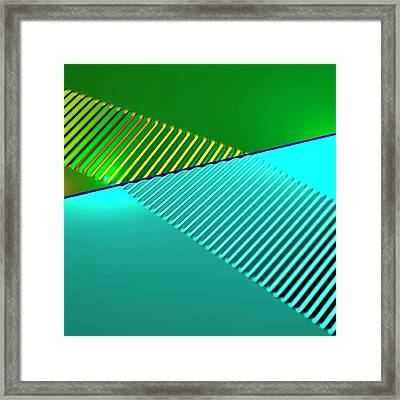 Wave Refraction Framed Print by Russell Kightley