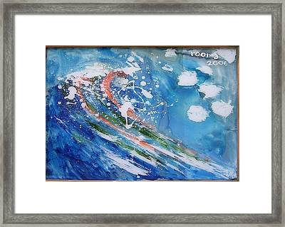 Wave Framed Print by Rooma Mehra