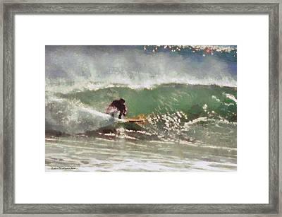 Wave Runner  Framed Print by Richard Worthington
