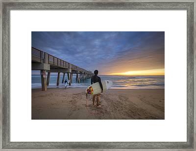 Wave Seeker Framed Print