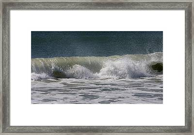 Wave Sequence 4 Of 4 Framed Print by Betsy Knapp