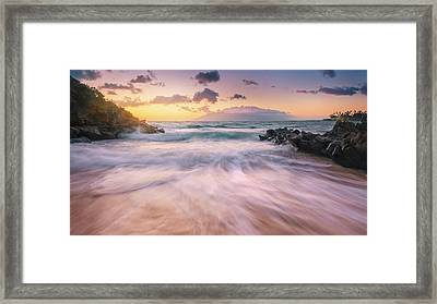 Framed Print featuring the photograph Wave Surge by Hawaii  Fine Art Photography
