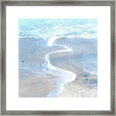 Wave Swirl Framed Print by Tanya Harrison
