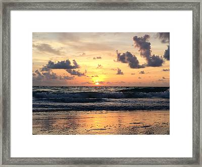 Wave To Sun Framed Print