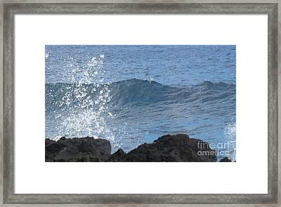 Wave - Vague - Ile De La Reunion - Island Reunion Framed Print by Francoise Leandre