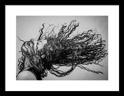 Curly Hair Framed Prints