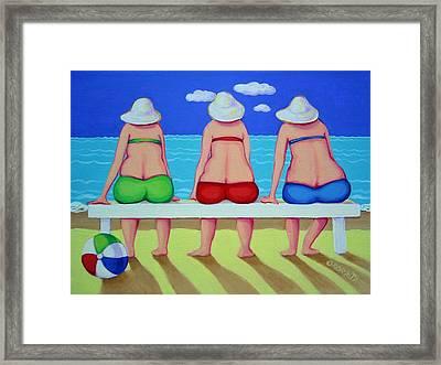 Wave Watch - Beach Framed Print
