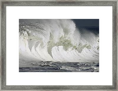 Wave Whitewash Framed Print by Vince Cavataio