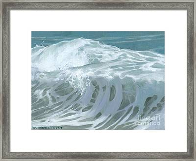 Wave X Framed Print by Clinton Hobart