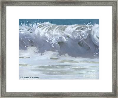Wave Xiii Framed Print by Clinton Hobart