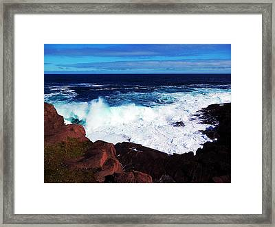 Wave Framed Print by Zinvolle Art
