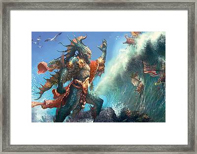 Wavecrash Triton Framed Print