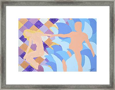 Framed Print featuring the painting Waved by Erika Chamberlin