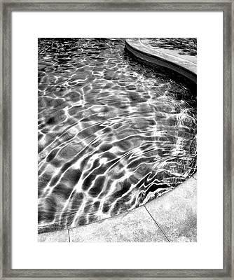 Wavelength Bw Palm Springs Framed Print by William Dey