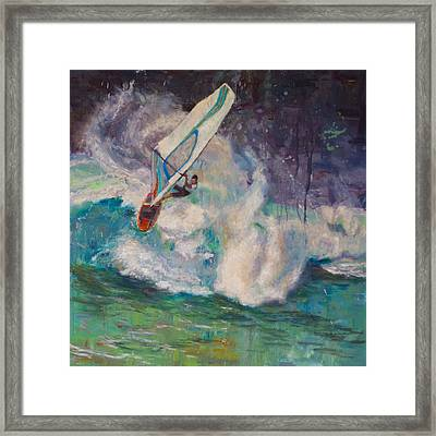 Wavemaker Framed Print by Jeanne Young