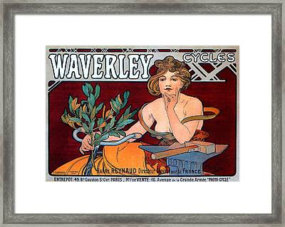 Waverley Cycles Framed Print by Charlie Ross