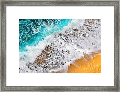 Waves Abstract Framed Print