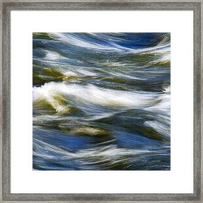Waves Abstract Square Framed Print by Christina Rollo