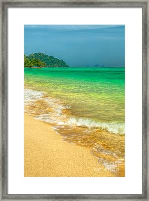 Waves Framed Print by Adrian Evans