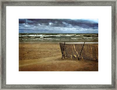 Waves And Clouds  Framed Print by Michelle Calkins